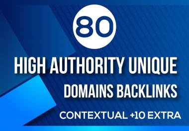 MANUALLY Do 80 UNIQUE PR10 SEO BackIinks on DA100 sites for