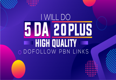 Do 5 PBN DA 20 plus High Quality Dofollow PBN Links