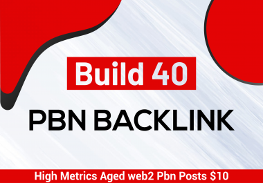 build 40 pbn backlinks, high metrics aged web2 pbn posts