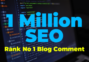 I will build 10,00,000 verified blog comment
