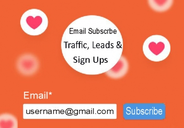 Boost your website, affiliate or referral link by 100+ email traffic and sign ups leads