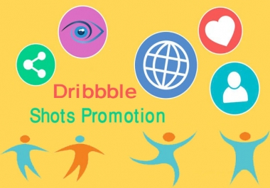 I will promote your dribbble shots to make popular