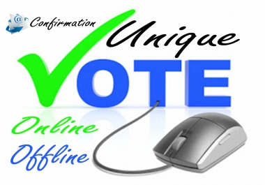 70 Real none drop and Manual email confiramation online vote provide for Promote Up voting contest