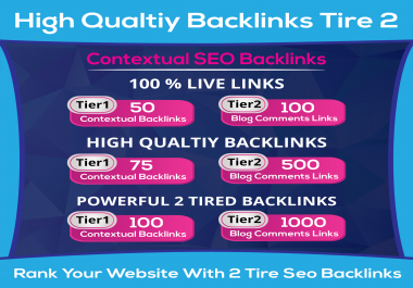 Do 50 Contextual Backlinks With 2 Tired Blog Comments