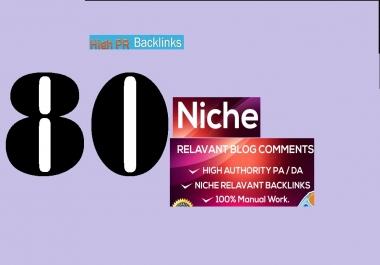 80 niche relavant blog comments backlinks