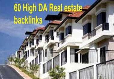 60 real estate blog comments niche related SEO backlinks