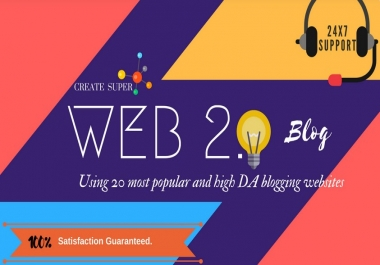 Manually Top 40 High DA Web 2.0 Contextual Links