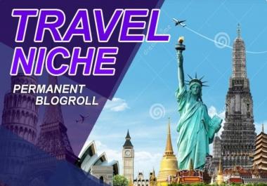 60 travel niche related high DA SEO backlinks