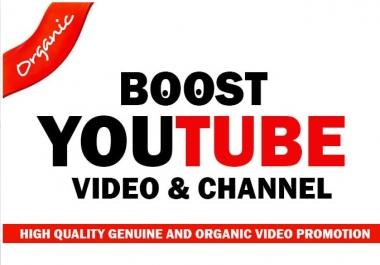Advertise YouTube video Promotion and Marketing with Organic Raking SEO