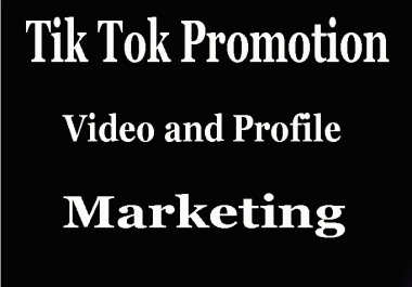Tik tok Video and account promotion