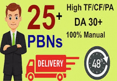 Create 25 UNIQUE HOMEPAGE PBN High Da/pa Tf/cf 30to40 backlinks