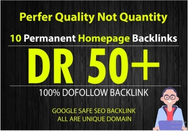 I will make 10PBN DR 50 dofollow permanent homepage pbn backlinks