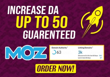Increase Moz Domain Authority DA50+ of your Website in 20 days