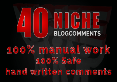Build 40 Niche Related Blog Comment With Da Pa High Quality Sites