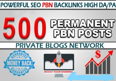 i will provide you 500 High authority pbn backlinks