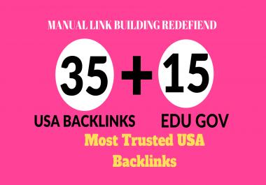 Manually Create 35 pr9 and 15 educational,gov high trust authority safe SEO link building backlinks