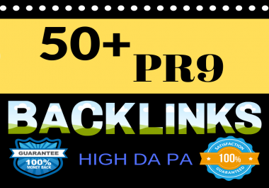 rank your website with 50 USA PR9 backlinks.