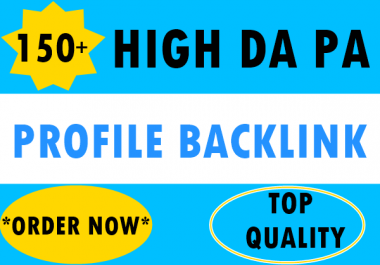 150+ Pr9 To Pr6 Manually Create high Authority Profile Backlinks-Top Quality