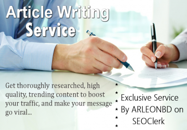 10 Article each 1000+ words Article Writing-Content Writing-Blog Writing In Any Topic