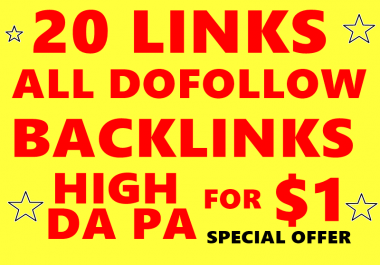 20 High DA PA Dofollow profile backlinks to RANK your website| Google Friendly Websites