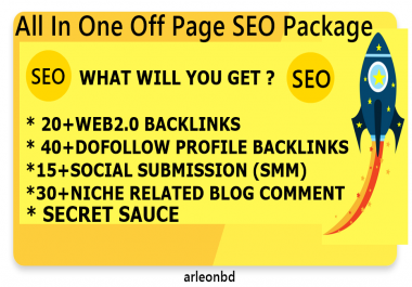 All In One Off Page SEO Service Get Quality Backlinks High DA-Top service in seoclerk