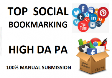 Build Seo Backlinks 35+ SOCIAL Bookmaking Unique Domain High DA PA