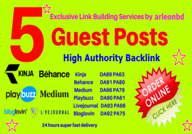 Guest Post On DA 90 Sites With High Authority Backlinks