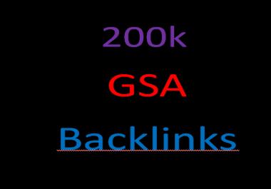 I will create 200,000 gsa ser back links for google seo