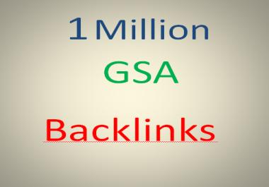 I will create GSA SER 1 Million SEO Backlink for google