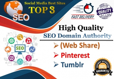 TOP 3 Platform 30,500 Pinterest/Web share/Reddit/Tumblr Social Signals Help To Increase Website SEO