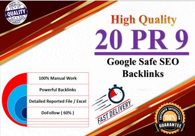 20 Pr9 - 80+ DA EDU GOV High Quality SEO Domain Authority Permanent Backlinks - SEO Ranking