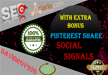 15000 Pinterest Share Social Signal important For SEO Rank Help To Increase Website Traffic Bookmark