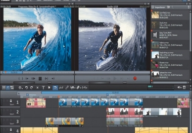professional video and audio editing