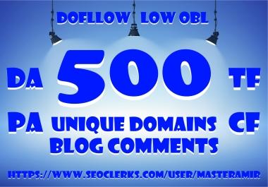 [Buy 2 Get 1 Free] Create 500 Dofollow Unique Domain Blog Comments Backlinks