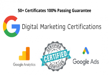 I will do google certifications on your behalf