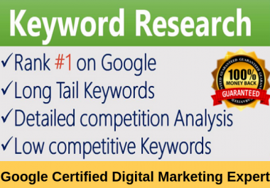 do seo keywords research and competitor analysis
