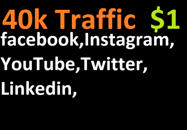 40,000 boost website real targeted web traffic facebook,instagram, youtube, twitter, linkedin