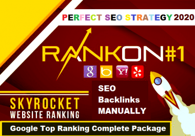 Rank Your Website On TOP Google Rankings no 1 With Manually Whitehat Backlinks package