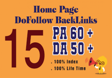 Do 15 pbn links high da pa lifetime homepage dofollow links