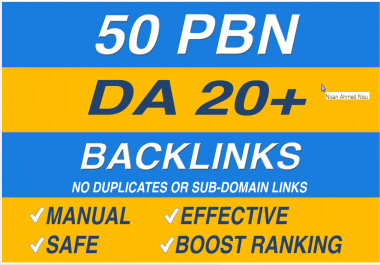 Create 50 permanent high da pbn links