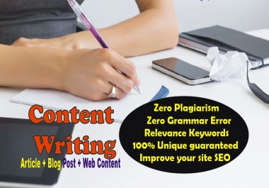 1500 - 1,700 words ARTICLE or BlogPost- Professional SEO Content for website