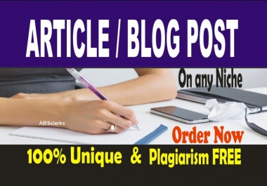 Write 1000 -1300 words ARTICLES or BLOG POST - SEOptimized content