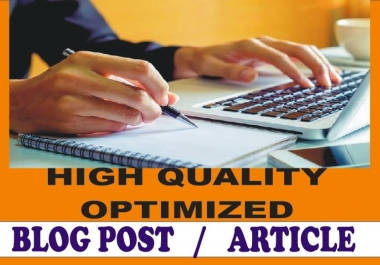 2000+ Words Quality ARTICLE writing, BLOGs writing or WEBSITE content writing on any subject