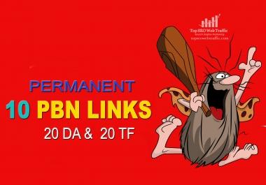 I Will Provide 10+ PBN Links - 20 DA & 20 TF