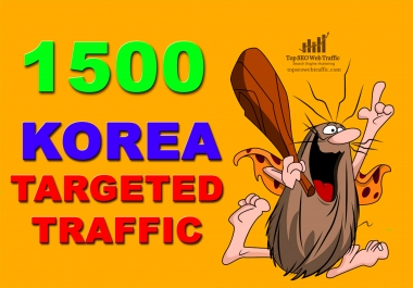 I WILL SEND 1,500 HIGHT SOUTH KOREA WEB TRAFFIC VISITORS