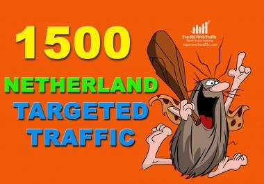 I WILL SEND 1,500 NETHERLANDS WEB TRAFFIC VISITORS FOR 3 DAYS