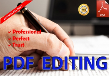 I will Edit PDF Document professionally