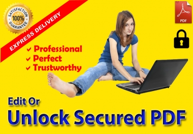 Edit Or Unlock Secured PDF Document