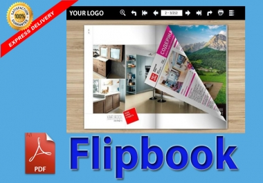 I will convert PDF to FLIPBOOK