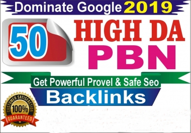 I will 50 high da pa homepage pbn backlinks permanent posts